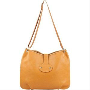 HERMES Tan Brown Ardennes Leather Rodeo Messenger